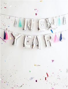 Ballongirlande NEW YEAR von Meri Meri - MERI MERI CAR möbel