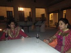 Ms. Bhavna enjoying a lovely evening at Royal Heritage Haveli Jaipur with Ms. Angelique Singh...