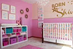 Project Nursery - Pink and Gold Shiny Nursery