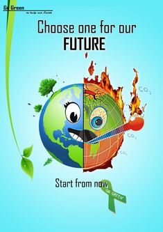 Go green - poster Ideas for NIFT, NID, CEED Design Entrance Exam