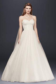 5eb5746b002d View Strapless Long Wedding Dress at David's Bridal Formal Dresses For  Weddings, Wedding Dresses For