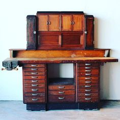 DOESN'T GET MUCH BETTER THAN THIS 1920s JEWELERS/WATCHMAKERS WORKBENCH ...LISTED ON ETSY