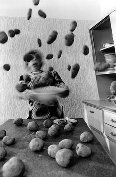 Anna Blume (German, born 1937) Bernhard Blume (German, born 1937) Kitchen Frenzy (Küchenkoller) (detail) 1986 Gelatin silver prints Each 66 15/16 x 42 1/2″ (170 x 108 cm) Acquired through the generosity of the Contemporary Arts Council of The Museum of Modern Art