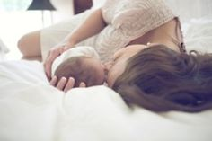 I wish I had a picture like this with Caleb because this is all I did the first week he was born.