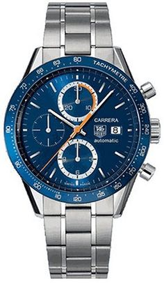 f73064b4af41 Swiss Tag Heuer Carrera Chronograph Tachymetre with Blue Face and Stainless  Steel Bracelet Men s Replica Watch