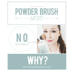 Powder brushes are misused by millions of women! Please don't be one of them... click on the picture to see how it's wrong (and how to do it right!).