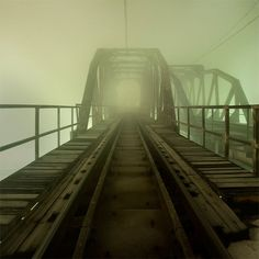 Train Tracks in the mist
