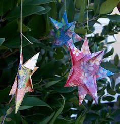 Origami Christmas Stars - how wonderful for december