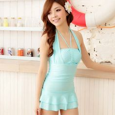 ba00c4eb89 Buy  Angel Romance – Ruffled Swimsuit  with Free International Shipping at  YesStyle.com. Browse and shop for thousands of Asian fashion items from  Taiwan ...