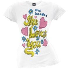 The Beatles - Love Juniors T-Shirt - Walmart.com