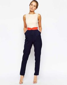 Jumpsuit: chic classy bcbg multicolor outfit idea office outfits