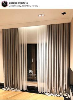 Curtains And Draperies, Elegant Curtains, Modern Curtains, Living Room Modern, Interior Design Living Room, Home Room Design, House Design, Pink Home Offices, Rideaux Design