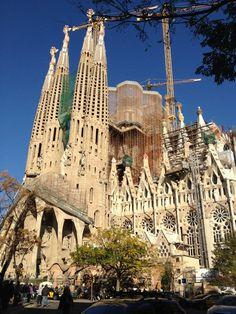 Beautiful church in Barcelona Spain