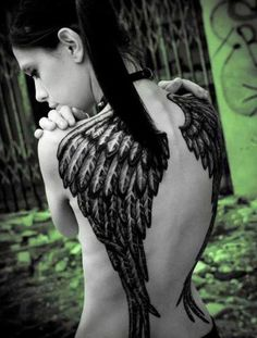 awesome angel wing tattoo
