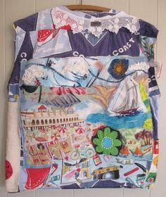 My Bonny Fabric Collage Clothing - Wearable Folk Art