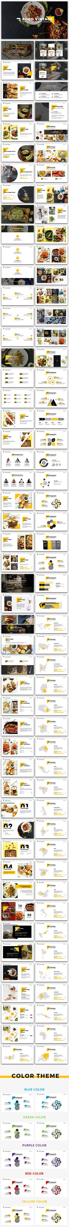 Food Vintage PowerPoint Template. Download here: http://graphicriver.net/item/food-vintage-powerpoint-version-2/15641670?ref=ksioks