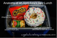 Pack your kid an April Fools Day lunch - Prank - Prank meme - - How to make a bagel look like a donut cute idea for a kid's lunch if you want to prank them. Maybe April Fool's Day? The post Pack your kid an April Fools Day lunch appeared first on Gag Dad. Pranks For Kids, Great Pranks, Awesome Pranks, Best April Fools, April Fools Day, Funny April Fools Pranks, Funny Pranks, Funny Texts, Cheetos Crunchy