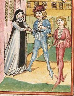 Elisabeth <Nassau-Saarbrücken, Gräfin, 1393-1456> Herpin — Stuttgart (?) - Werkstatt Ludwig Henfflin, um 1470 Cod. Pal. germ. 152 Folio 102r