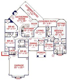 COOL house plans offers a unique variety of professionally designed home plans with floor plans by accredited home designers. Styles include country house plans, colonial, Victorian, European, and ranch. Blueprints for small to luxury home styles. Dream Home Design, Home Design Plans, Plan Design, My Dream Home, House Design, Dream House Plans, House Floor Plans, The Plan, How To Plan