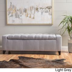 House of Hampton Ilchester Upholstered Flip Top Storage Bench Upholstery: Light Gray Fabric Storage Ottoman, Wood Storage Bench, Upholstered Storage Bench, Bedroom Storage Bench, Bedroom Benches, Firewood Storage, Cubby Storage, Storage Cart, Table Storage