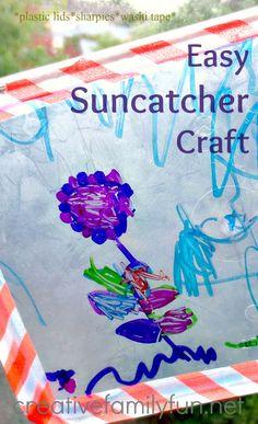 Easy Suncatcher Craft ~ A Fun craft for kids