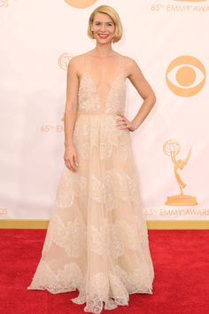 The dress was Armani Prive, but all anyone was talking about was Claire Danes' faux bob #Emmys