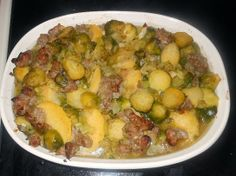 Polenta and Sausage dish