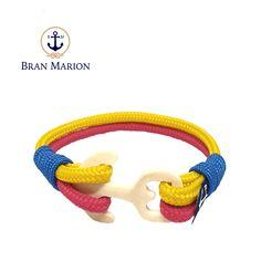 Sorcha Nautical Bracelet by Bran Marion Nautical Bracelet, Nautical Jewelry, Peter Pan, Marine Rope, Captain Hook, Handmade Accessories, Everyday Look, Handmade Bracelets, Color Combinations