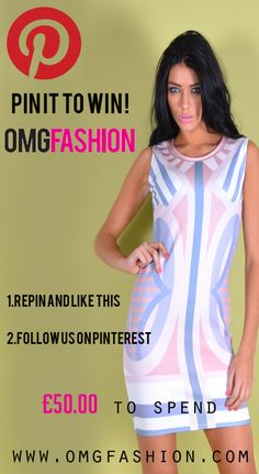 To enter our competion all you need to do is repin,like  and follow us winner will be announced on the 16th september  2013 #win  #dress #celeb #pinittowinit #fashion #clothing #competion #offers