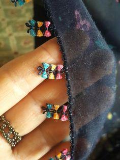 Very popular spring flower motif 50 Beautiful crochet lace model Hand Embroidery Dress, Embroidery Neck Designs, Embroidery Suits, Beaded Embroidery, Saree Tassels Designs, Saree Kuchu Designs, Blouse Designs Silk, Flower Motif, Passementerie