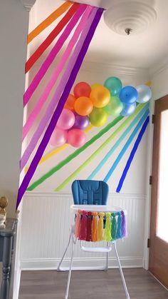 Rainbow First Birthday, Baby Boy 1st Birthday Party, First Birthday Parties, Birthday Party Themes, First Birthdays, Rainbow Baby, Party Themes For Kids, 26 Birthday, Birthday Ideas