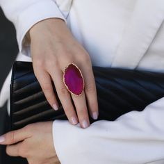 Jewelry and Decor from Brazil в Instagram: «Кольца с агатом в розовом и синем цвете снова в наличии, но их немного (всего 3)🔥 ⠀ ▫️Основа: медный сплав с позолотой 24 карат ▫️Статус: в…» Druzy Ring, Gemstone Rings, Gemstones, Jewelry, Jewellery Making, Gems, Jewerly, Jewlery, Jewelry Rings