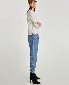 Image 4 of ROUND NECK CASHMERE SWEATER from Zara
