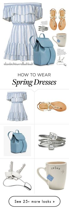 """SPRING HAS SPRUNG!"" by elizabethhorrell on Polyvore featuring Georg Jensen, LoveShackFancy, Dolce Vita, SpringStyle, springfashion, offshoulderdress and Spring2017"