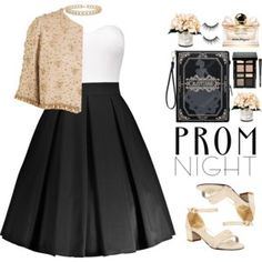 The Perfect Prom Night (formal) Church Outfits, Night Outfits, Prom Night, Sammy Dress, Skirt Outfits, Polyvore Outfits, Plus Size Fashion, Salvatore Ferragamo, Bobbi Brown