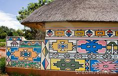 Find Hut Showing Traditional Way Which Ndebele stock images in HD and millions of other royalty-free stock photos, illustrations and vectors in the Shutterstock collection. Africa Symbol, African Tattoo, African House, South African Art, World Crafts, Geometric Painting, African Tribes, Mural Art, Murals