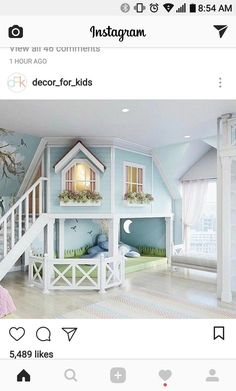 little girls bedroom or play room. - - room, Cute little girls bedroom or play room. - - room, Cute little girls bedroom or play room. Cute Bedroom Ideas, Girl Bedroom Designs, Awesome Bedrooms, Cool Rooms, Bed Ideas, Small Rooms, Loft Ideas, Kids Bedroom Ideas For Girls, Little Girls Playroom