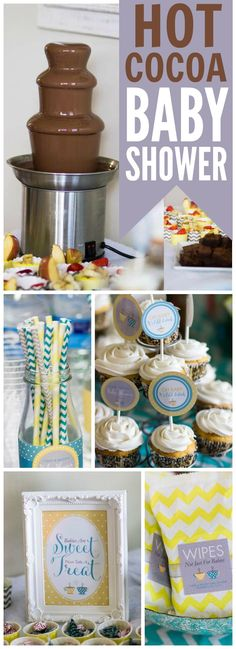 You must see this hot cocoa themed gender neutral baby shower! See more party ideas at CatchMyParty.com!