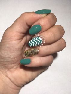 Gold and Blue Mani