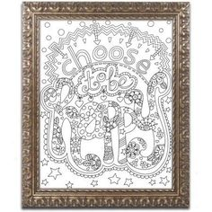 Trademark Fine Art Choose to be Happy Canvas Art by Jennifer Nilsson, Gold Ornate Frame, Size: 11 x 14, Assorted