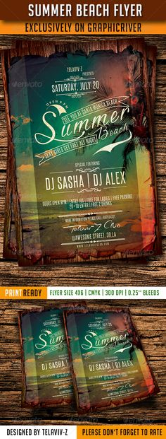 Summer Beach Flyer Template PSD | Buy and Download: http://graphicriver.net/item/summer-beach-flyer-template/8113971?WT.ac=category_thumb&WT.z_author=TelAvivZ&ref=ksioks