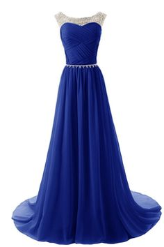 2015 Scoop Prom Dresses A Line Pleated Bodice Chiffon With Beads US$ 139.99 FEPPYCJLBDM - FineProm.com