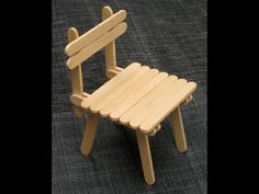 DIY - Popsicle Stick Chair - Craft For Kid - YouTube nice design ; uses super glue fast drying