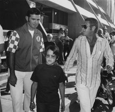 Steve McQueen and Chad McQueen  Chad was born in 1960.