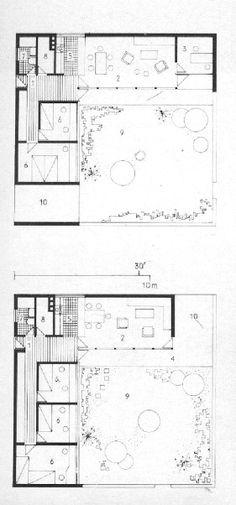 PLANS OF ARCHITECTURE (Jørn Utzon, Kingohusene, 1957-1958, Helsingør,...)