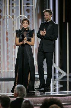 Emma Watson and Robert Pattinson at golden globe awards 2018