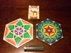 Perler beads hexagons freestyle