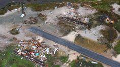 Incredible aerial photos show massive flooding and damage in Texas in the wake of Harvey. This aerial photo shows a view of damage in the wake of Hurricane Harvey, Monday, Aug. 28, 2017, in Corpus Christi, Texas. Harvey hit the coast as a Category 4 hurricane. (Gabe Hernandez/Corpus Christi Caller-Times via AP)