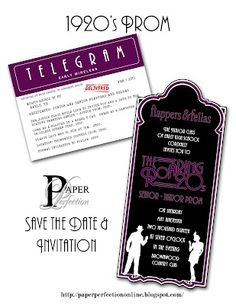 Paper Perfection: 1920's Prom Invitation and Party Printables