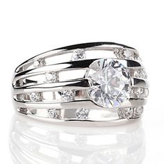 Daniel K 2.03ct Absolute Sterling Silver Nova Round 5 Row Band Ring Size 10 #DanielK #Band